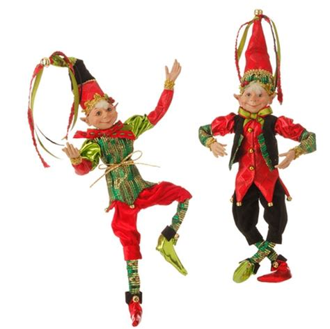 raz imports 16 quot posable elf ornament set of 2