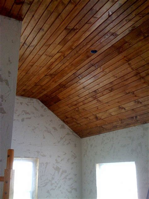 How To Hang Tongue And Groove Ceiling by Find Wood Ceiling 101 How To Install Tongue
