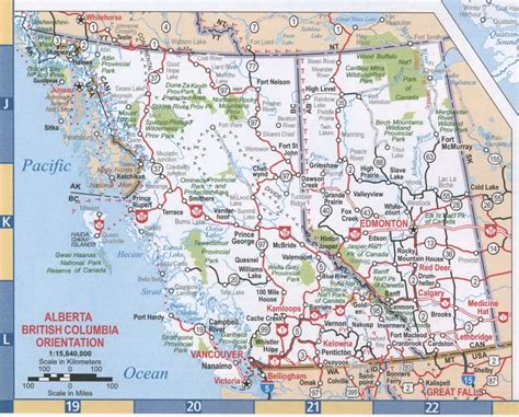 map canada bc maps of columbia