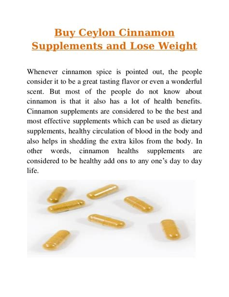 4 supplements to lose weight 4 simple ways in which cinammon helps in weight loss