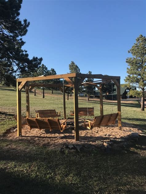 fire pit surrounded by swings cfire areas