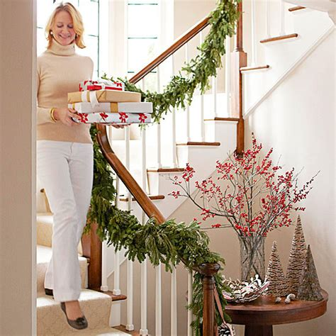 how to decorate banister with garland 12 beautiful christmas banisters