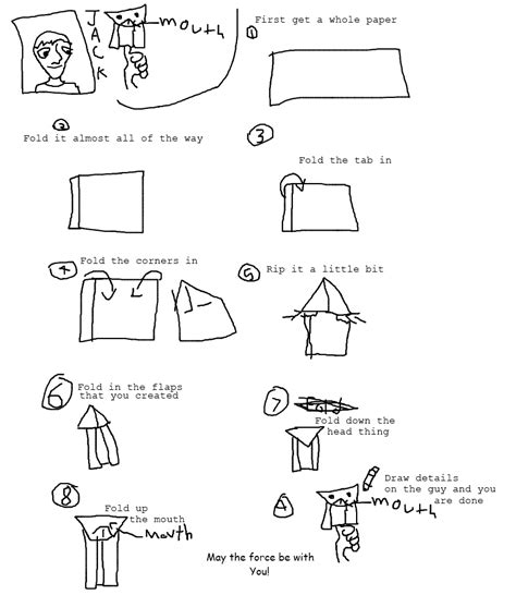 How To Fold An Origami Yoda - yoda origamiyoda