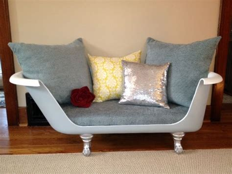 bath tub couch upcycled claw foot tub sofa
