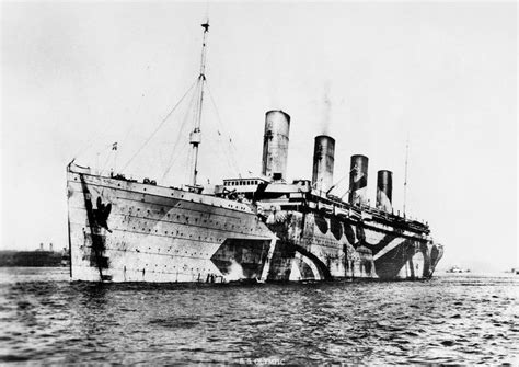 the unseen olympic the ship in illustrations books artist norman wilkinson created rms olympic s dazzle paint