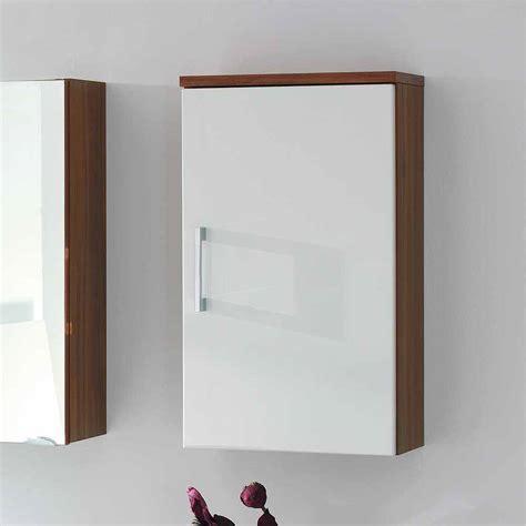 wandschrank 40 cm breit badezimmer h 228 ngeschrank in wei 223 hochglanhz walnuss 40 cm
