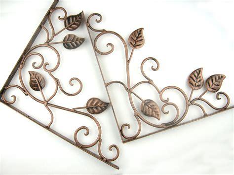 decorative metal wall brackets pair of iron metal decorative wall shelf brackets brace