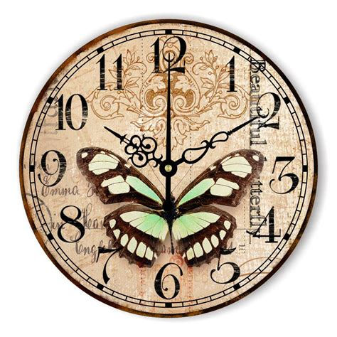 decorative clock butterfly home decoration wall clock warranty 3 years
