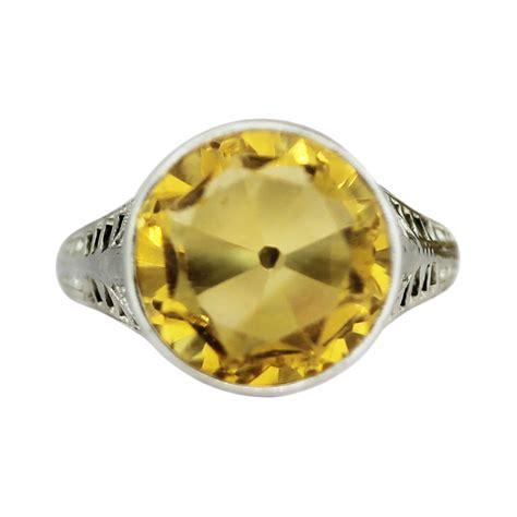 18k white gold 3 27ct citrine ring boca raton