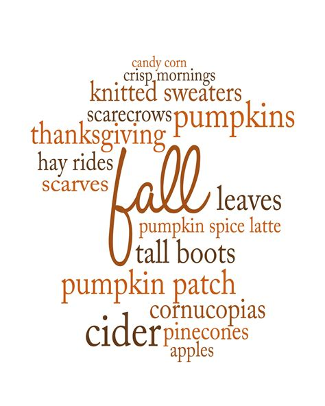 my favorite things about fall a printable yellow bliss road