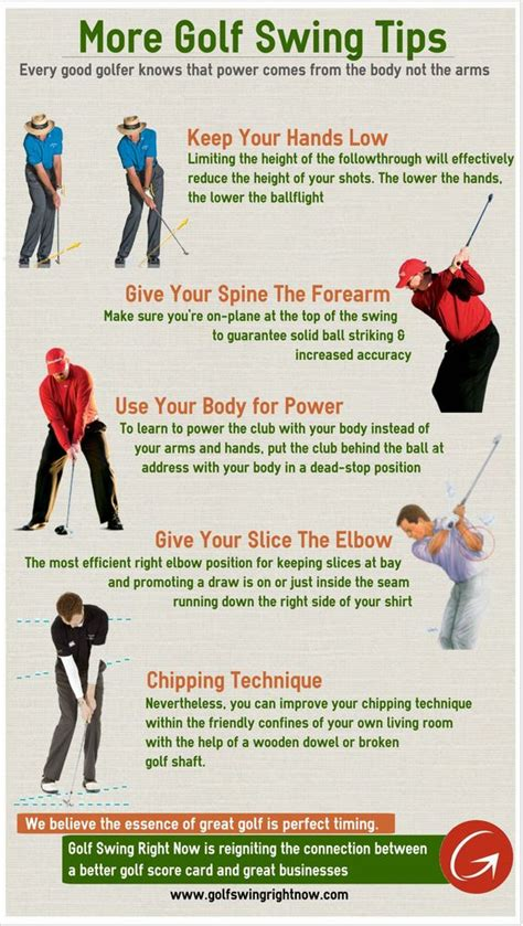 more golf swing tips infographic http www