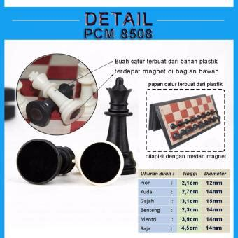 Papan Catur Size L eelic pac 8608 papan catur magnet mainan anak usia 3