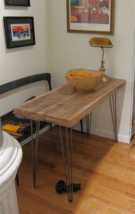Small Kitchen Table Reclaimed Oak Hairpin Legs Compact Kitchen Table