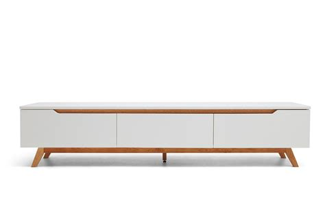 meuble bois blanc console tv design scandinave cima dewarens
