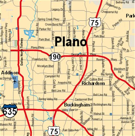 map of texas plano plano texas map and plano texas satellite image