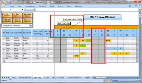 printable annual leave planner free free annual leave planner annual leave and absence