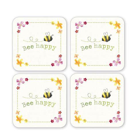 Set Ami Bee dessous de verre x4 collection bee