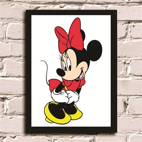 M Mickey poster moldura minnie moldposter elo7