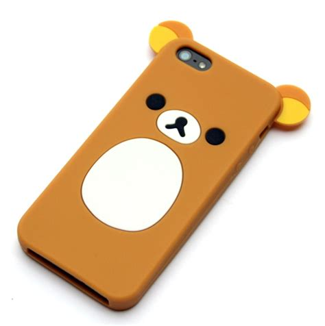 Iphone 5 5s 5se 3d Teddy Brown Soft Silicone Tpu Armor this is a new and rilakkuma iphone 5 made