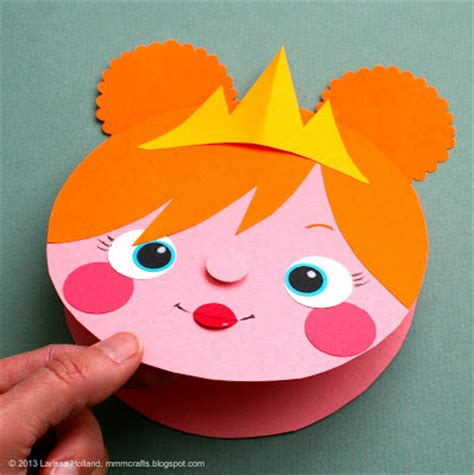 Construction Paper Crafts - mmmcrafts make a princess card gift tag or a