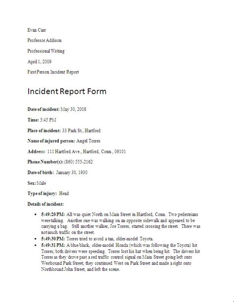 writing an incident report letter writing effective incident reports firebelle productions