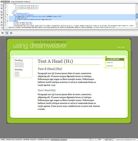div tag properties dreamweaver div tag background color