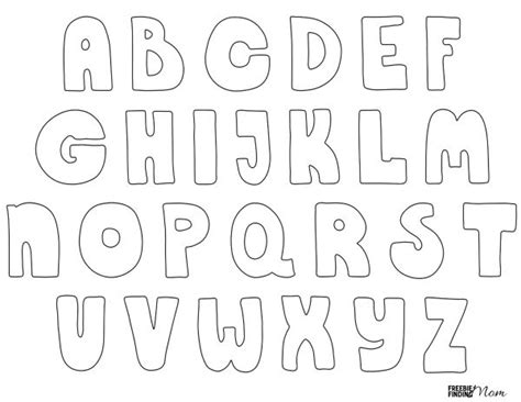 printable alphabet bubble letters free printable bubble letters