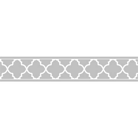 Sweet JoJo Designs Grey/ White Trellis Wall Border   Free