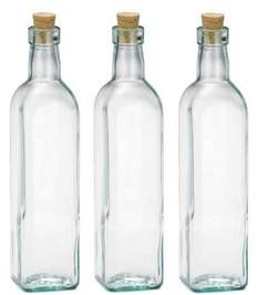 Olive Green Kitchen Accessories - empty glass bottles with corks whereibuyit com