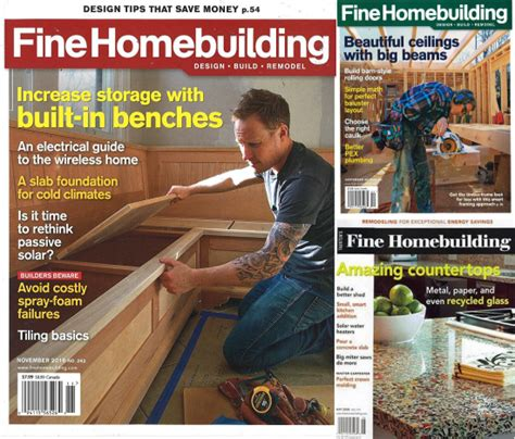 fine homebuilding magazine fine homebuidling magazine subscription 12 99 a year