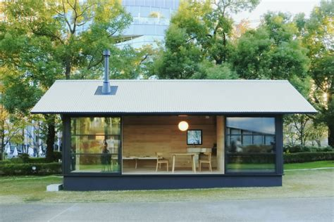 gallery of design your own home with muji s prefab vertical house 3 muji s tiny prefab houses take minimalism to the extreme