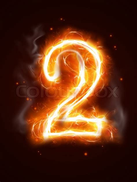 Fiery Numbers Stock Photos Images Fiery Number 2 One Of The Collection Stock Photo Colourbox