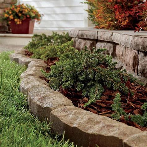 patio edging ideas best 25 rock edging ideas on landscaping