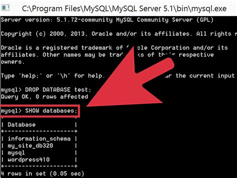 how to delete a mysql database 5 steps with pictures