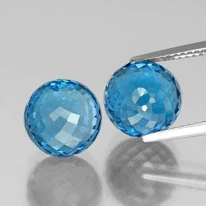 Blue Safir 9 85ct swiss blue topaz 13 9 carat sphere from brazil