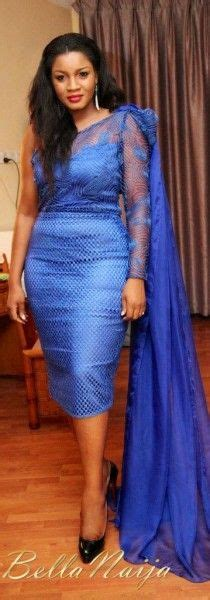 omotla nigerian styles with lace dresses bn style bytes fierce bold in blue omotola jalade