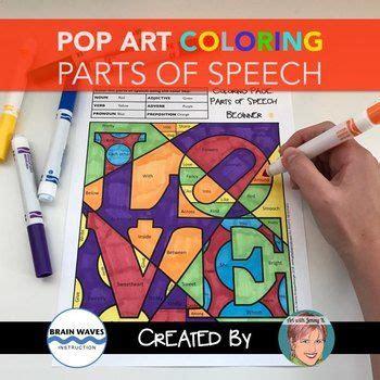 coloring page parts of speech beginner best 25 parts of speech activities ideas on pinterest