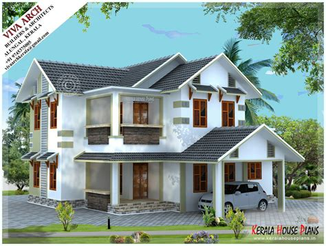 vastu kerala home design 2300 sq ft white beautiful kerala style slope roof home