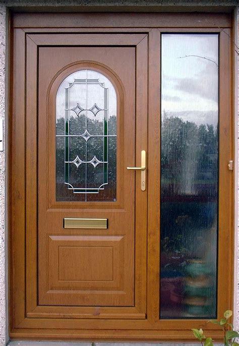 kusen pintu rumah bagian samping  motif kaca kiri