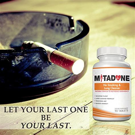 Nicotine Detox Pills by Mitadone No Lung Cleanse 2 In 1 Anti