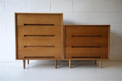 1960s oak chest of drawers by stag and chrome