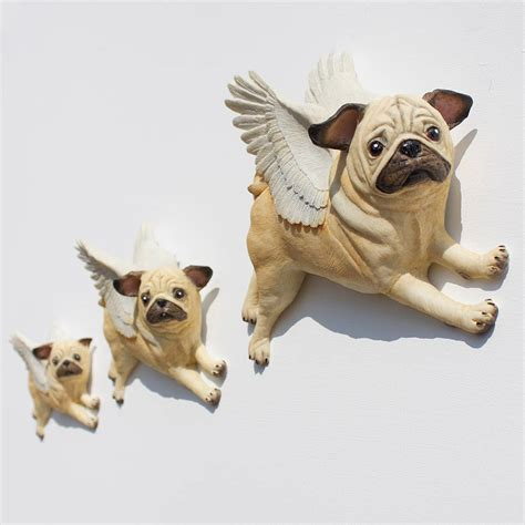 the flying pug painted flying pug wall by pugs might fly notonthehighstreet
