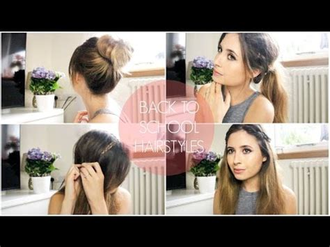 hairstyles for school on tumblr 4 easy tumblr back to school hairstyles memymouse1 youtube