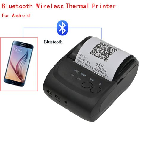 bluetooth mobile printer mini wireless 58mm portable bluetooth thermal printer