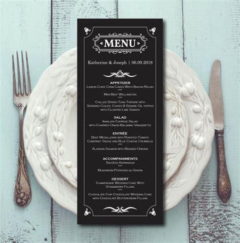 menu card template pdf retro wedding menu black white menu card template dinner