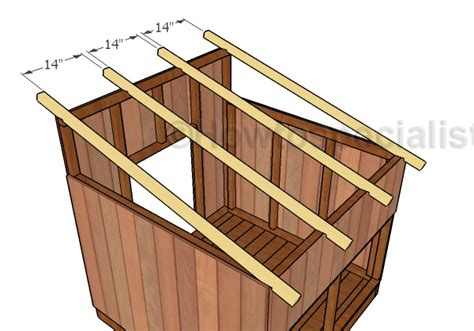 How To Build A Duck House by Duck House Roof Plans Howtospecialist How To Build
