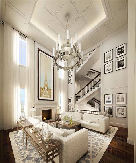 Hton Style Living Rm By Neil Aldrin Santander At Lighting For Living Room With High Ceiling