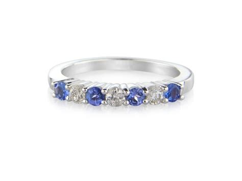 9 carat white gold tanzanite and eternity ring dtr799w