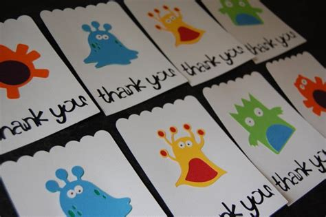printable monster notecards 11 best images about thank you cards on pinterest