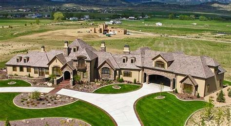 one story mansions future house home pinterest